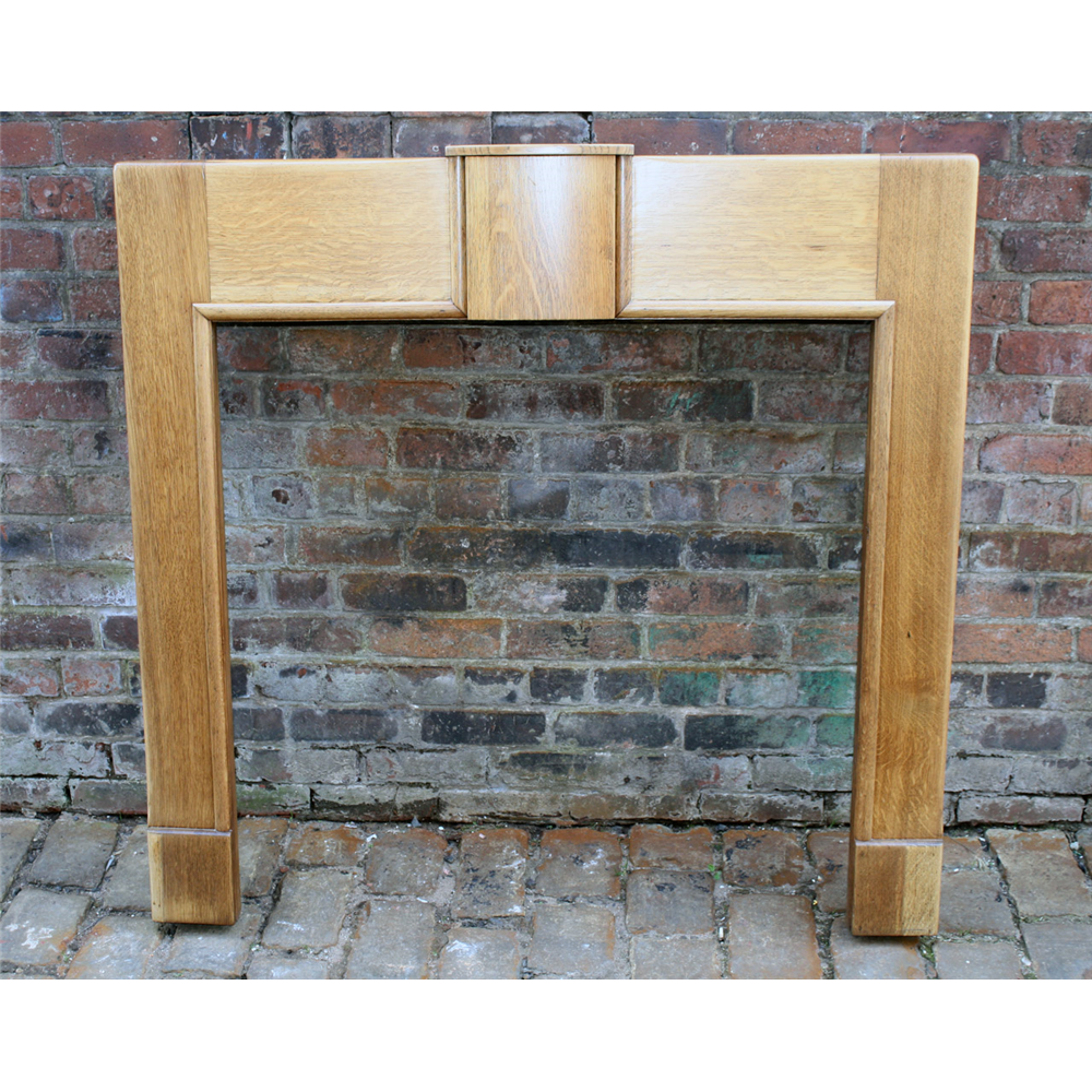 Fire Surround In Oak Art Deco Oak Fire Surround - 1930S