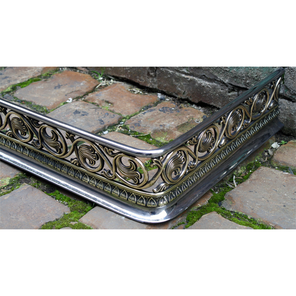 Early Victorian Fire Fender In Steel Polished