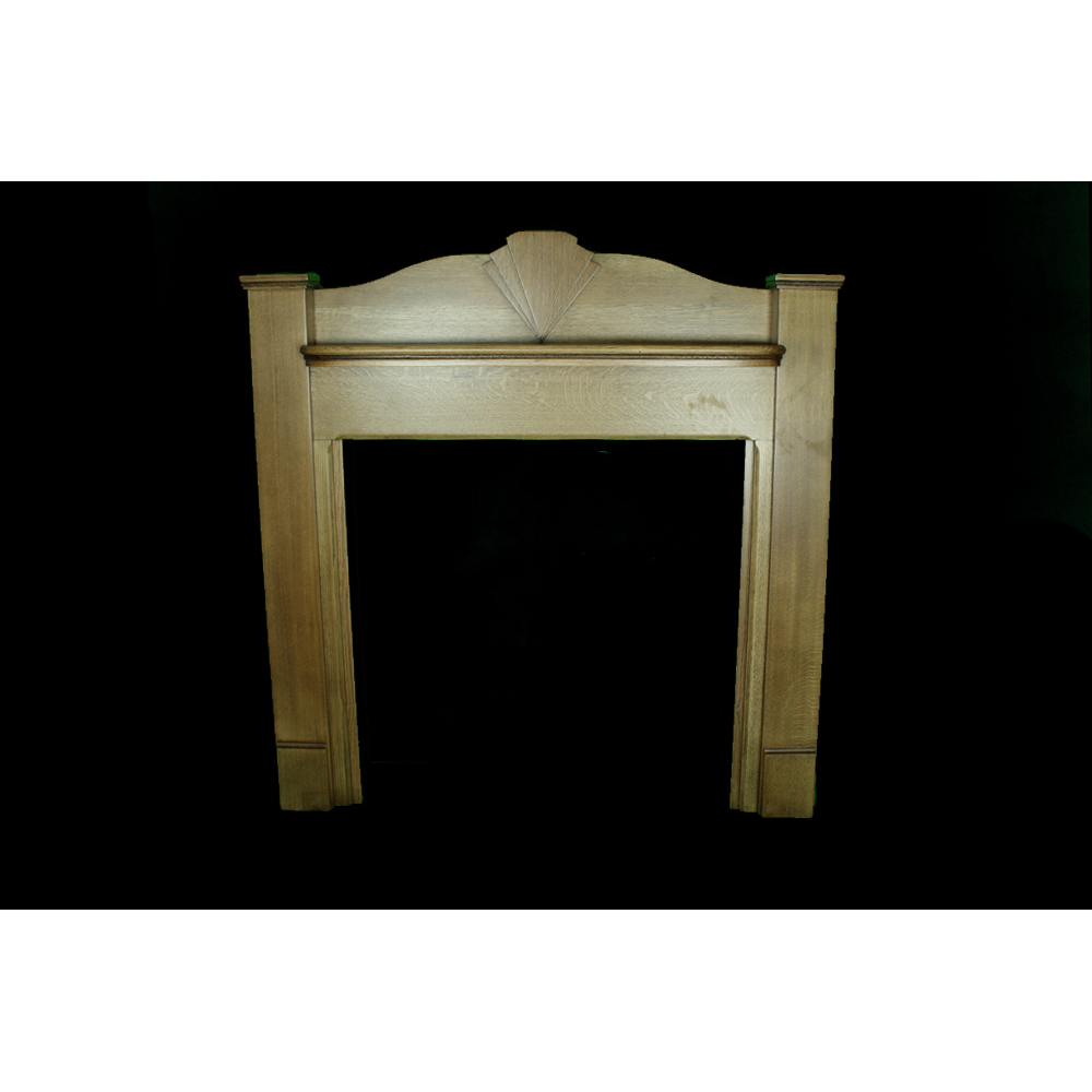 Edwardian Fire Surround In Oak Art Deco