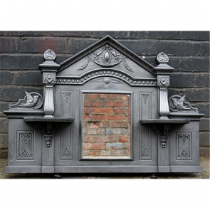 Victorian Over Mantle In Cast Iron