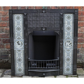 Late Victorian Insert With Minton Tiles