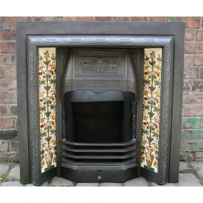 Restored Victorian Cast Iron Tiled Insert