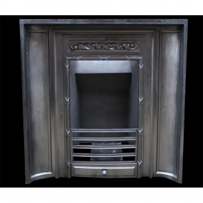 Edwardian Art Deco Concave Fireplace