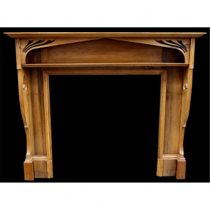 Edwardian Fire Surround In Wood Arts & Crafts Pine Fire Surround - Wood