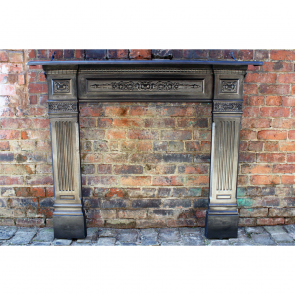 Antique Reclaimed Victorian Fire Surround In Cast Iron