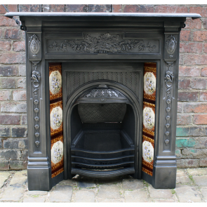 Original Biclam Cast Iron Tiled Combination Fireplace
