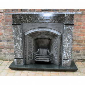 Late Victorian Restored St Anne'S Marble Fire Surround