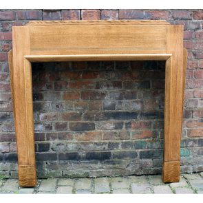 Art Deco Solid Oak Fire Surround