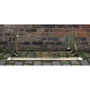 Edwardian Brass Fender