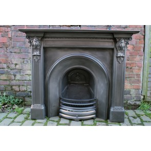 Victorian Cast Iron corbel Fire Surround with Victorian arch insert