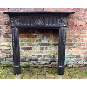 Original Reclaimed Neo Classical Cast Iron Fire Surround