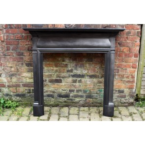 Antique Reclaimed Edwardian Fire Surround In Cast Iron